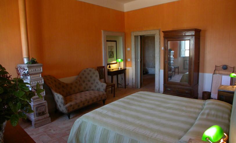 Villa Pianciani-stanza da letto